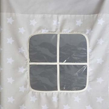 Homestyle4u 1871, Kinderbett 90x200 Grau, Hochbett mit Rutsche, Sternen Vorhang, Holz - 5