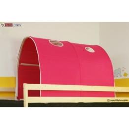 Homestyle4u 556, Kinder Tunnel Für Hochbett, Pink Rosa, Baumwolle, 90 cm Breit - 1
