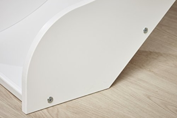 Hoppekids PREMIUM Kiefer massiv inklusiv Lattenrost, schräg Leiter und Rutsche, Holz, Weiß, Single, 169 x 114 x 177 cm - 8