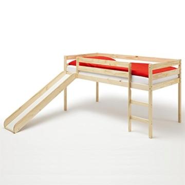IDIMEX Spielbett Rutschbett Hochbett Bett mit Rutsche Benny für Kinder Kiefer massiv in Natur lackiert 90 x 200 cm (B x L) - 1