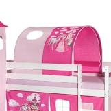 IDIMEX Tunnel für Hochbett Prinzessin Rutschbett Spielbett Kinderbett in pink/rosa - 1