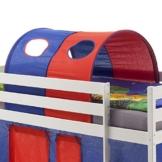 IDIMEX Tunnel MAX für Hochbett Rutschbett Spielbett Kinderbett, in blau/rot - 1