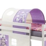 IDIMEX Tunnel Prinzessin zu Hochbett Spielbett Rutschbett Kinderbett in lila/weiß - 1