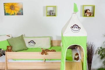 Kinderbett/Hochbett Tom mit Rutsche und Turm inkl. Rollrost - Material: Buche massiv natur, Farbe: klar lackiert - 3
