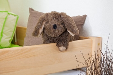 Kinderbett/Hochbett Tom mit Rutsche und Turm inkl. Rollrost - Material: Buche massiv natur, Farbe: klar lackiert - 8