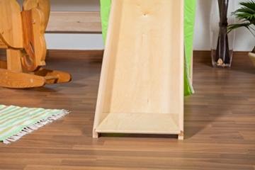 Kinderbett/Hochbett Tom mit Rutsche und Turm inkl. Rollrost - Material: Buche massiv natur, Farbe: klar lackiert - 9