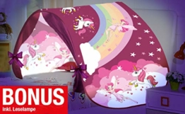 Magic Dreams Märchen Pop Up Tunnel Zelt Spieltunnel Höhle für Hochbett Kinderbett Bogen Bettzelt Bettdach rosa pink - 1