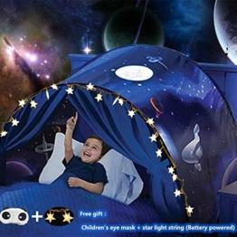 Nifogo Traumzelt,Bettzelt, Dream Tent,Drinnen Kinder, Kid's Fantasy, Kinder Schlafzimmer Dekoration,Geschenke für Kinder (Universum) - 1