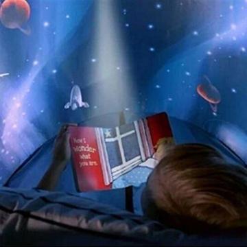 Nifogo Traumzelt,Bettzelt, Dream Tent,Drinnen Kinder, Kid's Fantasy, Kinder Schlafzimmer Dekoration,Geschenke für Kinder (Universum) - 5