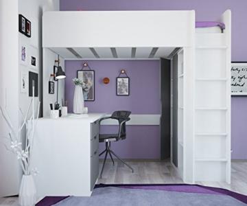 Polini Kids Kinder Etagenbett Hochbett mit Kleiderschrank Schreibtisch, 1447.55 - 5