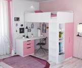 Polini Kids Kinder Etagenbett Hochbett mit Kleiderschrank Schreibtisch,1447.21 - 1