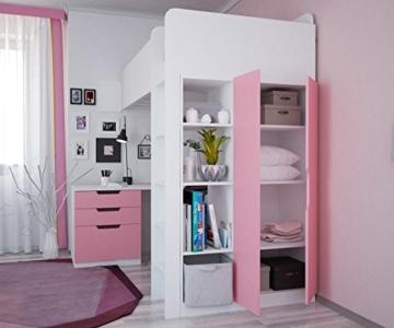 Polini Kids Kinder Etagenbett Hochbett mit Kleiderschrank Schreibtisch,1447.21 - 4