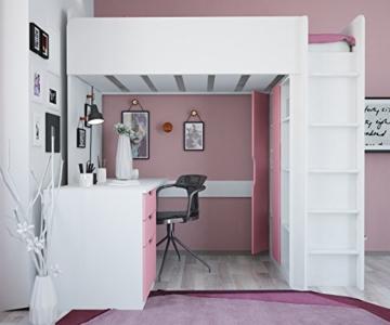 Polini Kids Kinder Etagenbett Hochbett mit Kleiderschrank Schreibtisch,1447.21 - 5