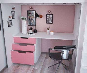 Polini Kids Kinder Etagenbett Hochbett mit Kleiderschrank Schreibtisch,1447.21 - 6