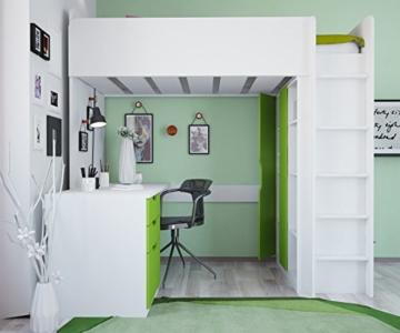 Polini Kids Kinder Etagenbett Hochbett mit Kleiderschrank Schreibtisch,1447.6 - 5