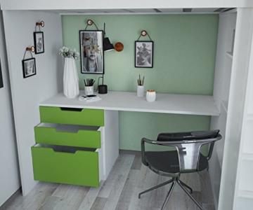 Polini Kids Kinder Etagenbett Hochbett mit Kleiderschrank Schreibtisch,1447.6 - 6