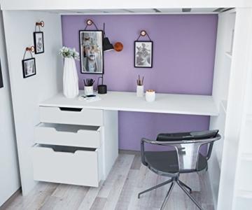 Polini Kids Kinder Etagenbett Hochbett mit Kleiderschrank und Schreibtisch - 4