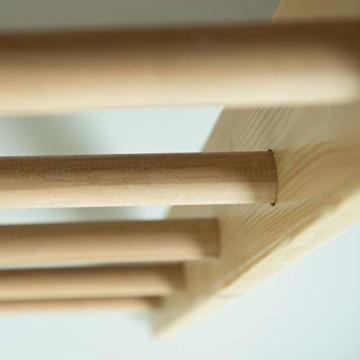 Sprossenwand mit höhenverstellbarer Stange ˝Kombi-1-220˝ Kletterwand Turnwand Fitness Sportgerät Klettergerüst Holz - 6