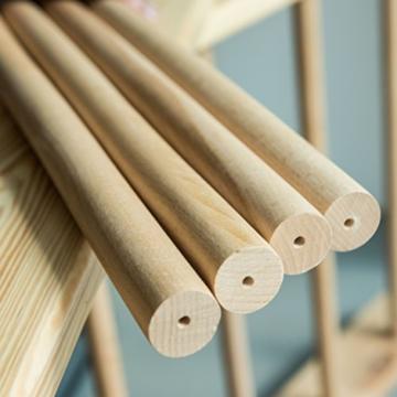 Sprossenwand mit höhenverstellbarer Stange ˝Kombi-1-220˝ Kletterwand Turnwand Fitness Sportgerät Klettergerüst Holz - 7