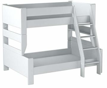 Steens 2916360050001N For Kids Kinderbett, Etagenbett, 145 x 206 x 164 cm, inkl. Lattenrost und Absturzsicherung, Liegeflächen 90 x 200 cm & 120 x 200 cm, MDF, weiß - 4