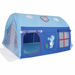 Tunnel Kinderzelt, Für Hochbett, Halbhochbett, Spielbett, Textil, Blau, 145 X106 X91cm - 1