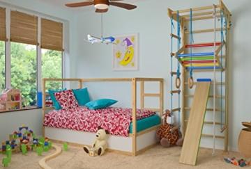 Turnwand Kinder Gym Klettergerüst ˝Kinder-3-220-Farbe˝ Holz Sportgerät Kletterwand Sprossenwand mit Stange Fitness - 6