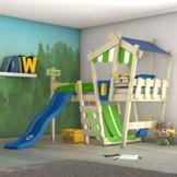 WICKEY Kinderbett 'CrAzY Hutty' mit Rutsche - Hochbett in verschiedenen Farbkombinationen - 90x200 cm - 1