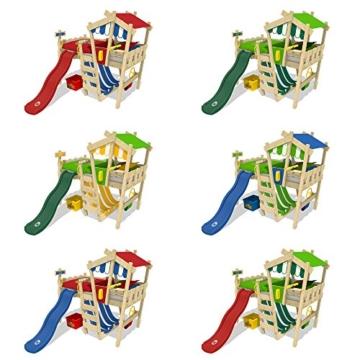 WICKEY Kinderbett 'CrAzY Hutty' mit Rutsche - Hochbett in verschiedenen Farbkombinationen - 90x200 cm - 5