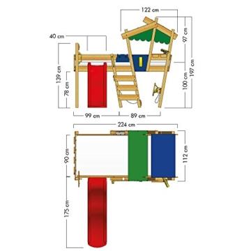 WICKEY Kinderbett 'CrAzY Hutty' mit Rutsche - Hochbett in verschiedenen Farbkombinationen - 90x200 cm - 7