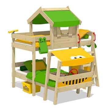 WICKEY Kinderbett 'CrAzY Trunky' - Etagenbett im Safari-Look - Spielbett – 90x200 cm - 2