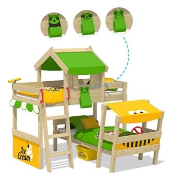 WICKEY Kinderbett 'CrAzY Trunky' - Etagenbett im Safari-Look - Spielbett – 90x200 cm - 3