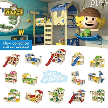 WICKEY Kinderbett 'CrAzY Trunky' - Etagenbett im Safari-Look - Spielbett – 90x200 cm - 5