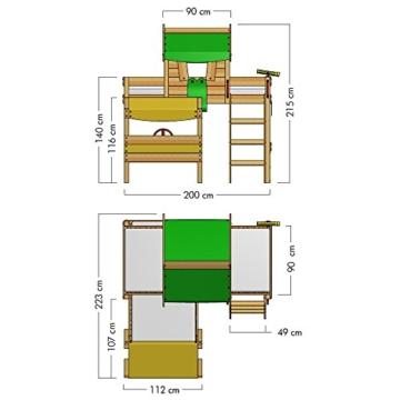 WICKEY Kinderbett 'CrAzY Trunky' - Etagenbett im Safari-Look - Spielbett – 90x200 cm - 6