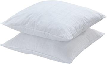 AmazonBasics Kissen mit Baumwollbezug, 65 x 65 cm, Packung mit 2 Stück - 1