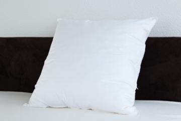 Badenia Bettcomfort Kopfkissen Trendline Comfort mit Baumwollbezug, 80 x 80 cm, weiß - 2
