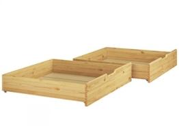 Erst-Holz® Bettkasten für unsere Etagenbetten - 2-teilig - Kiefer Natur - 90.10-S2 - 1