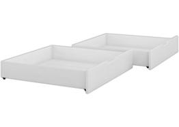 Erst-Holz Bettkasten für unsere Etagenbetten - 2-teilig - Kiefer weiß - 90.10-S2 W - 1