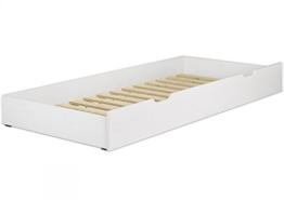 Erst-Holz® Bettkasten weiß Bettschublade mit Rollrost als Zusatzbett für Einzel- und Seniorenbetten 90.10-S6 W - 1