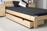 Schublade für Bett - Kiefer Vollholz massiv natur 002- Abmessung 17 x 150 x 57 cm (H x B x T) - 1
