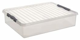 SUNWARE Q-Line Box Bettbox - 60 Liter - 800 x 500 x 180mm - transparent/silber - 1