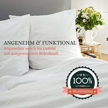 VOYAL LINNEN Wiener WOLKENPOLSTER/Premium Federkissen / 80 x 80 cm/mittlere Füllmenge/zertifizierte Füllung/atmungsaktiv/Hausstaballergiker geeignet - 5