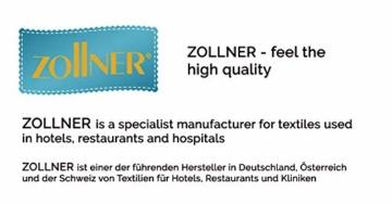 ZOLLNER Allergiker Kopfkissen mit Reißverschluss, 80x80 cm, 840g, Mikrofaser - 6