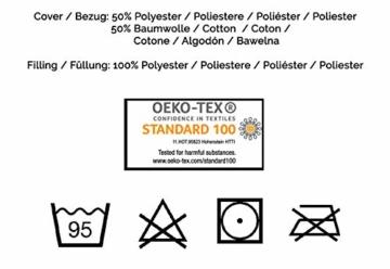 ZOLLNER Allergiker Kopfkissen mit Reißverschluss, 80x80 cm, 840g, Mikrofaser - 7