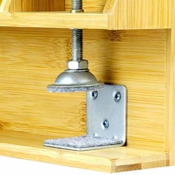 Bamboo Clip - On Nachttischregal   Ergonomischer Space Saver Beistelltisch   Einzigartige Holzbettrahmenklemme   M&W - 3