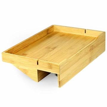 Bamboo Clip - On Nachttischregal   Ergonomischer Space Saver Beistelltisch   Einzigartige Holzbettrahmenklemme   M&W - 1