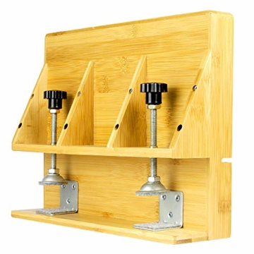 Bamboo Clip - On Nachttischregal   Ergonomischer Space Saver Beistelltisch   Einzigartige Holzbettrahmenklemme   M&W - 5
