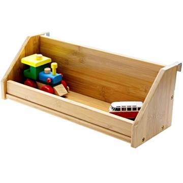 Bambus Hängeregal für Kinder Bett (Natural, Clips 31mm) - 1