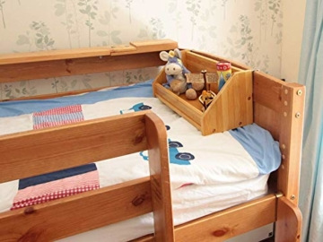 Bambus Hängeregal für Kinder Bett (Natural, Clips 31mm) - 4