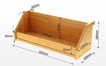 Bambus Hängeregal für Kinder Bett (Natural, Clips 31mm) - 7