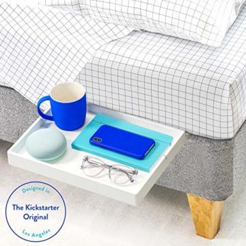BedShelfie Slide Das Original Nachttisch Regal - 3 Farben / 3 Größen - GESEHEN AUF Business-Insider und Kickstarter (Slide, Bambus in Weiß) - 1
